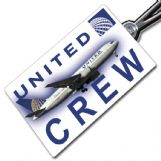 United Airlines Boeing 767-200 Crew Tag